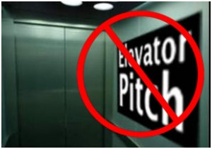 Say no to the elevator pitch!